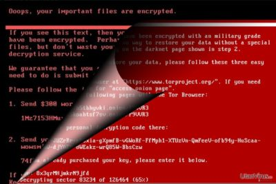 Bildexempel på NotPetya-viruset