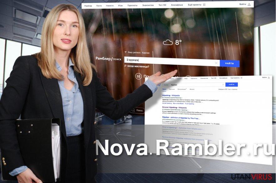 Nova Rambler-webbsidan
