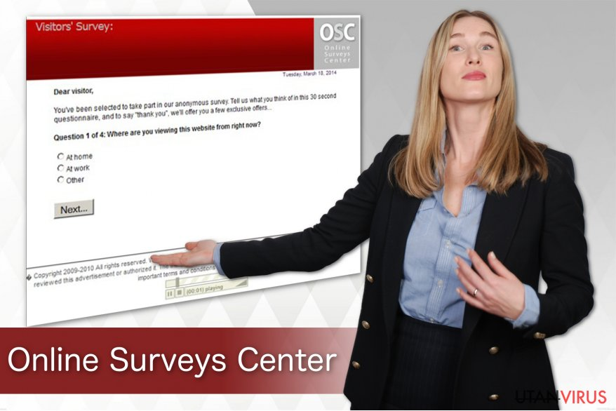 Viruset Online Surveys Center ögonblicksbild