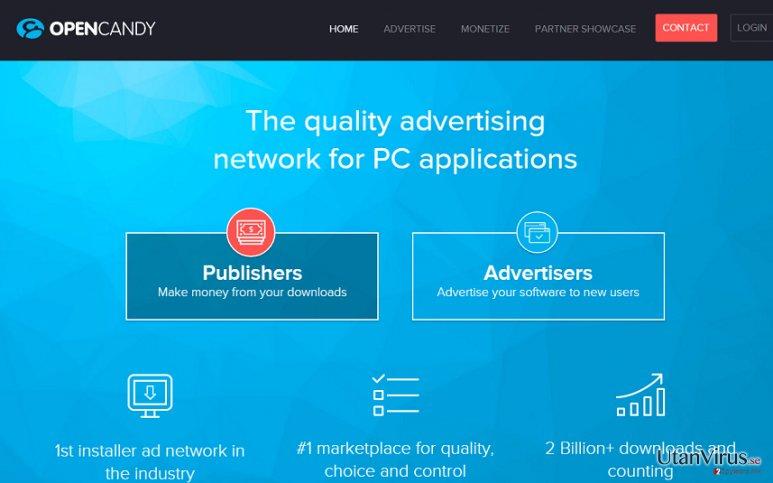 OpenCandy-annonser ögonblicksbild
