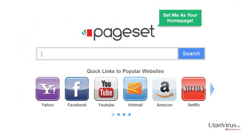 Pageset.com virus ögonblicksbild