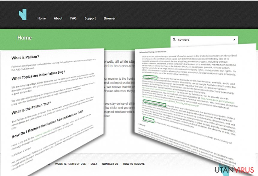 Omdirigeringar från Palikan.com ögonblicksbild