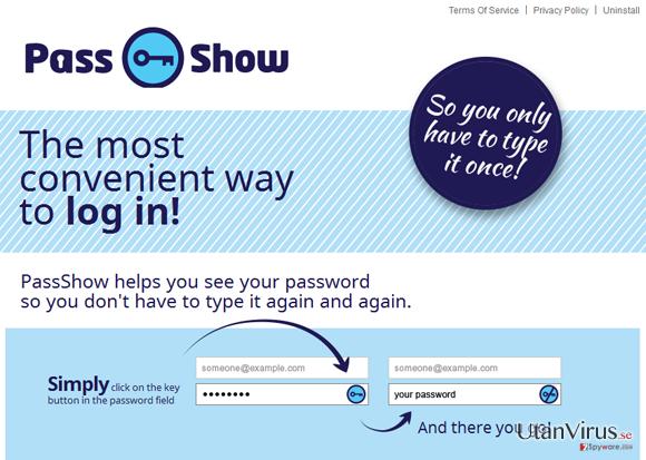 PassShow ads ögonblicksbild