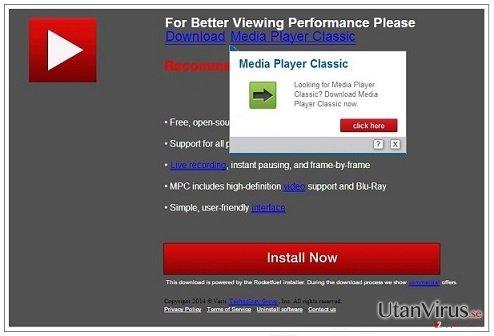 PCSoftUpdate.com popup-virus ögonblicksbild