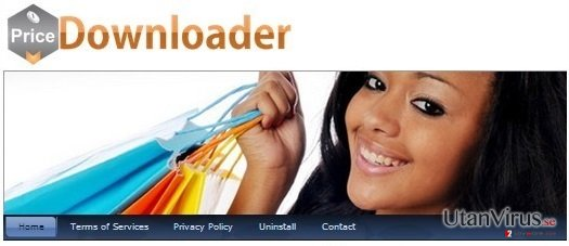 PriceDownloader adware ögonblicksbild