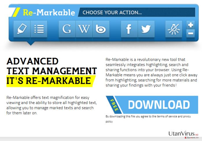 'Ads by ReMarkable' virus ögonblicksbild