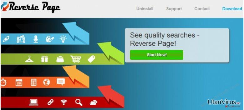 Annonser från Reverse Page ögonblicksbild