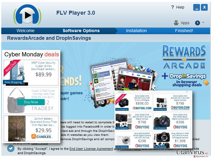 Displaying RewardsArcade ads