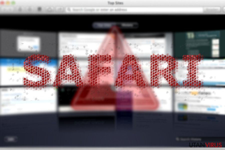 The image displaying Safari redirect infection
