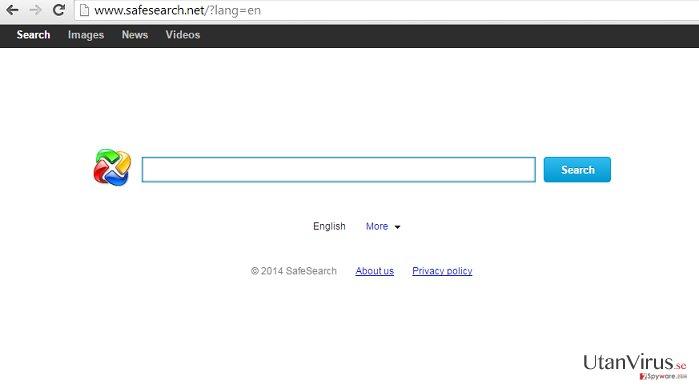 Omdirigeringar från SafeSearch.net ögonblicksbild