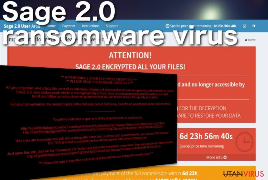 Skärmdump av Sage 2.0 ransomware