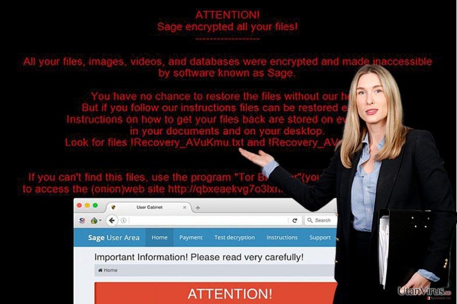 Bildexempel på Sage ransomware