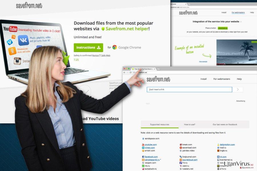 SaveFrom.net-viruset ögonblicksbild