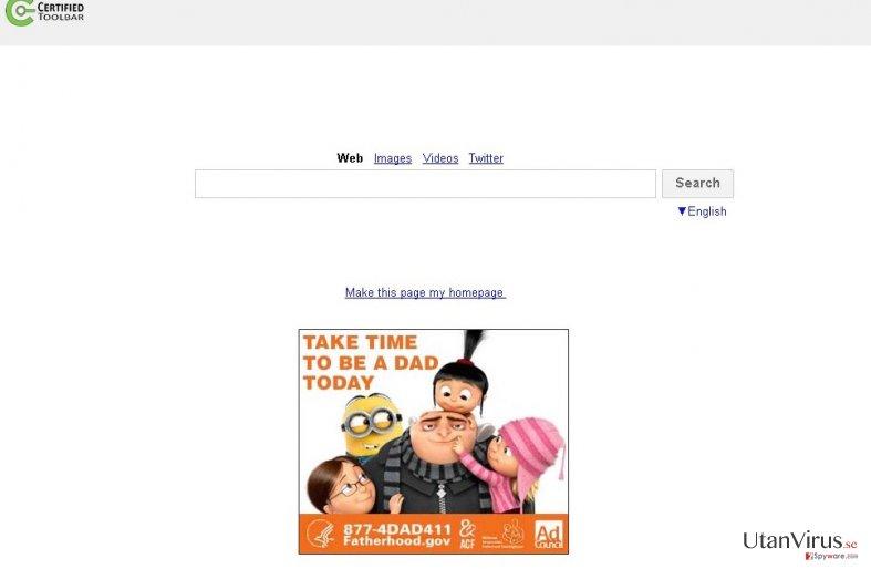 Search.certified-toolbar.com ögonblicksbild