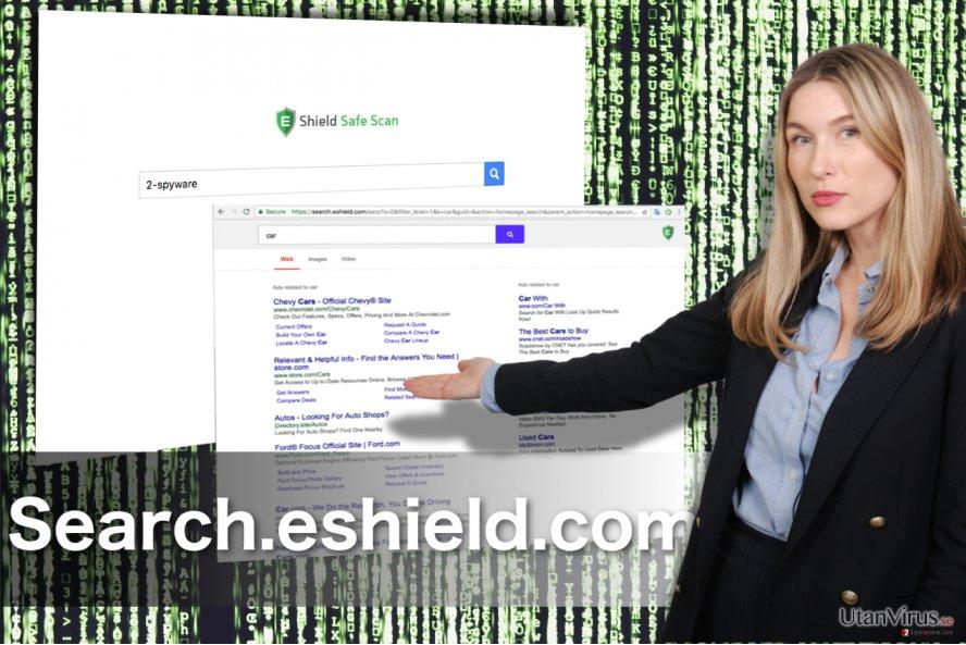 Omdirigeringar från Search.eshield.com ögonblicksbild