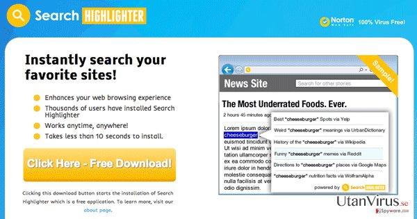 Search Highlighter ögonblicksbild