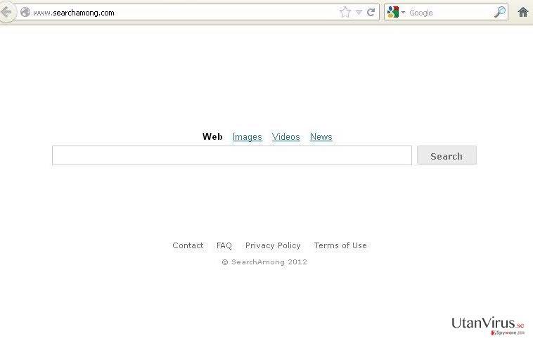 SearchAmong.com virus ögonblicksbild
