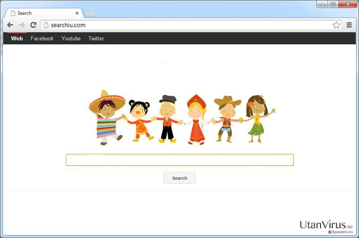 Viruset Searchiu.com ögonblicksbild