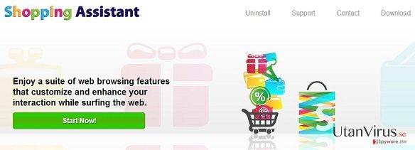Shopping Assistant annonser ögonblicksbild