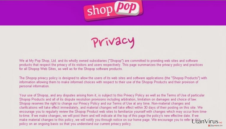 Shopop virus ögonblicksbild