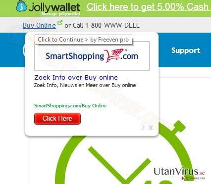 SmartShopping.com popup-annonser ögonblicksbild