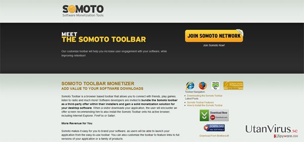 Somoto Toolbar ögonblicksbild