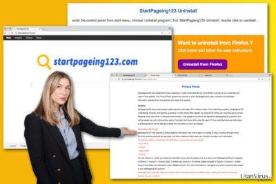 Bildexempel på StartPageing123.com-viruset