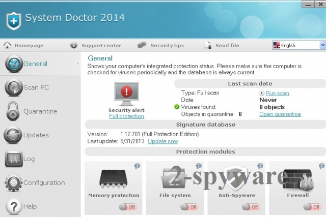 System Doctor 2014 ögonblicksbild