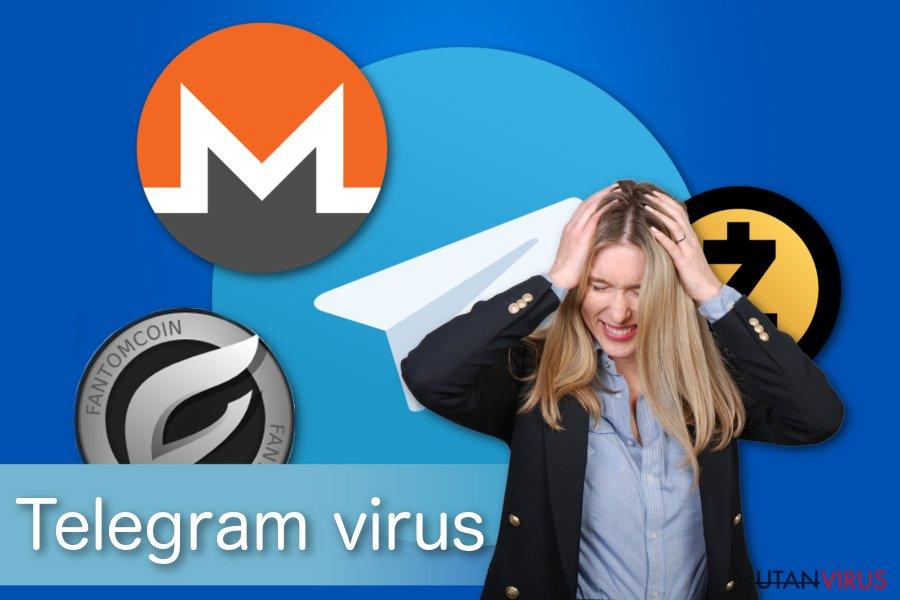 Illustration av Telegram-virus