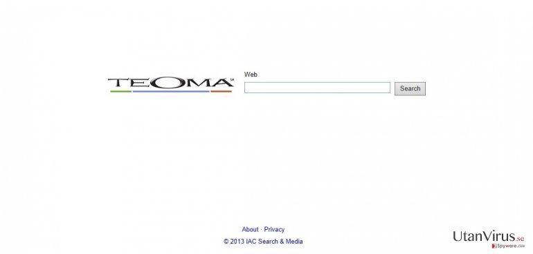 Teoma Web Search ögonblicksbild
