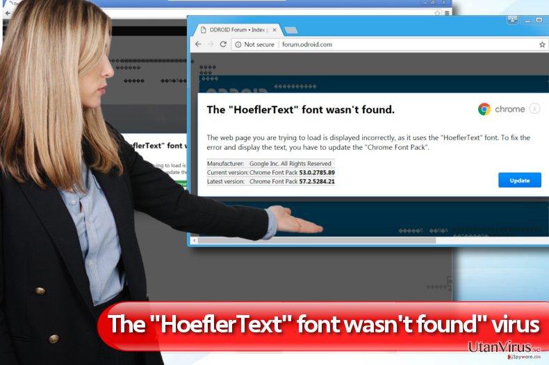Typsnittet HoeflerText kunde inte hittas