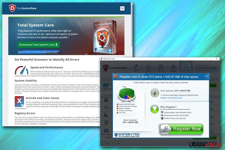 Total System Care ögonblicksbild