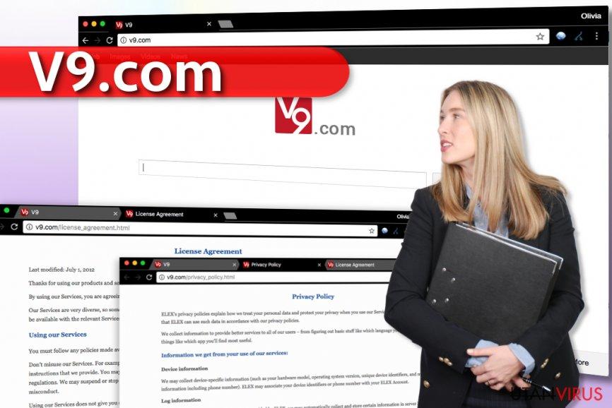 v9.com virus ögonblicksbild