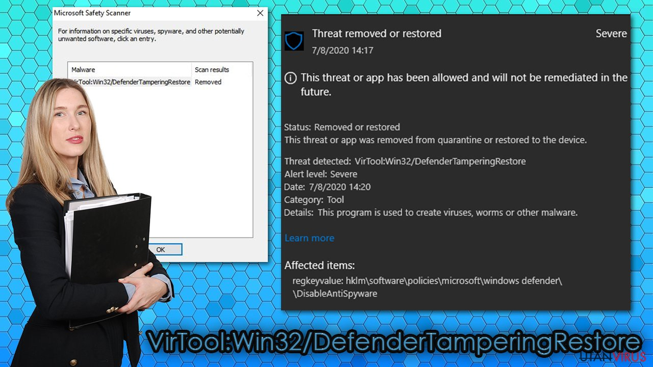 VirTool:Win32/DefenderTamperingRestore-virus
