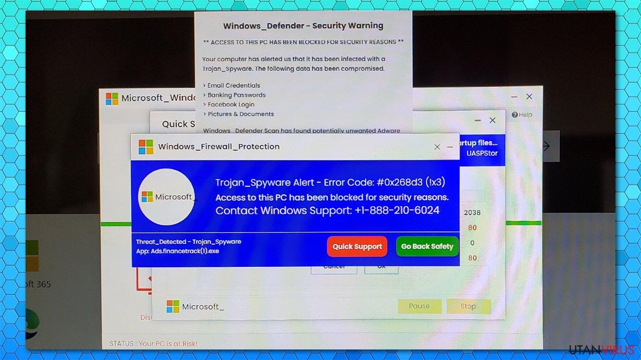 Trojan_Spyware Alert - Error Code #0x268d3 (!x3) falsk alert