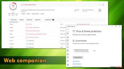 Uppspårning av Web Companion