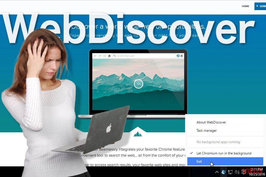Bildexempel på WebDiscover Browser