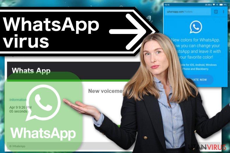 Bildexempel på WhatsApp-viruset
