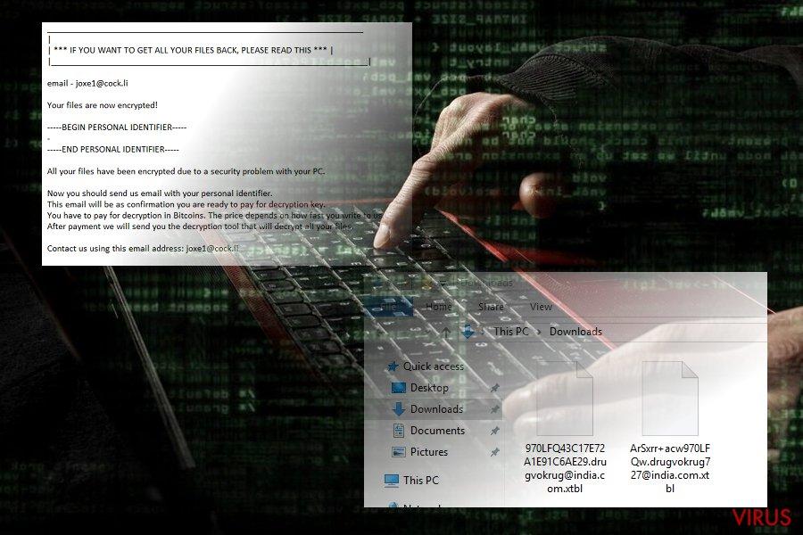 .xtbl-viruset ögonblicksbild