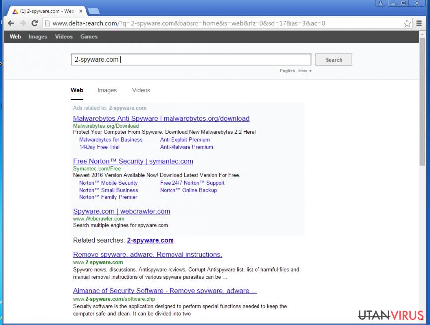 Yahoo-omdirigeringsviruset ögonblicksbild