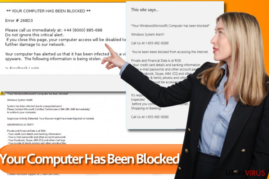 """Your Computer Has Been Blocked"" ögonblicksbild"