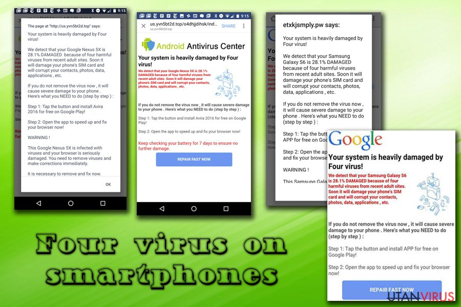 Four-virus på Android och iPhone
