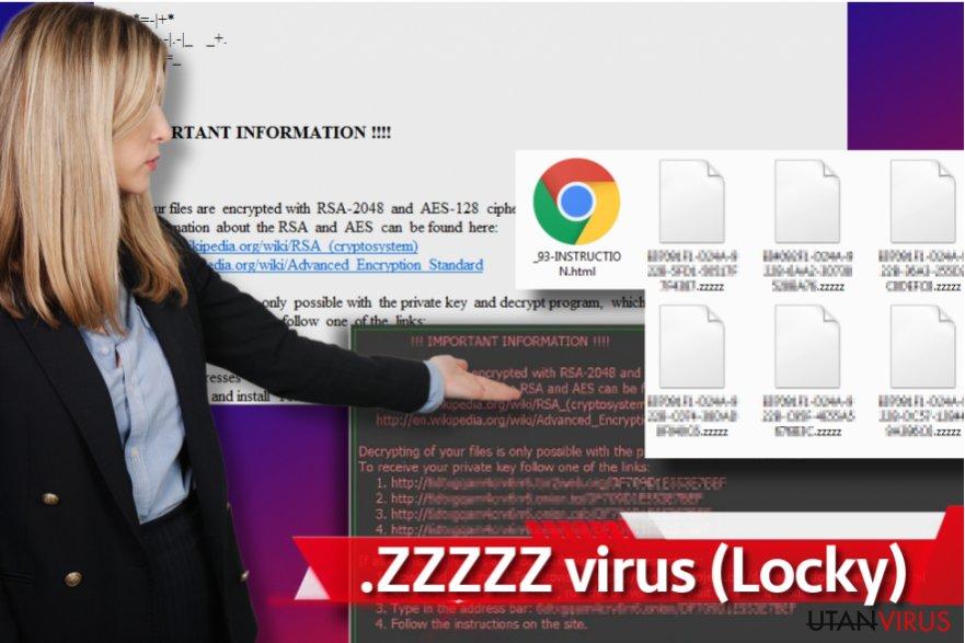 Zzzzz ransomware ögonblicksbild